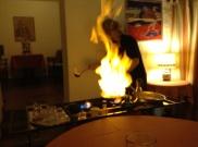 Im Rattenfängerhaus in Hameln. Zubereitung am Tisch.