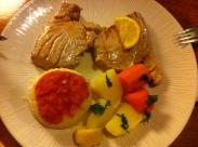 Schwertfisch mit Gemüse